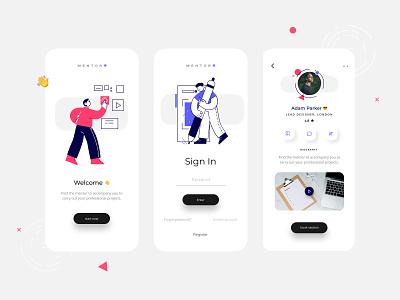 Mentor App tutor illustration figmadesign figma mobile mobile app design ui app mentoring mentors mentorship mentor