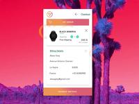 V-clock App - Checkout Process