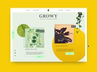 Growy - Blog 🌱DailyUI #35
