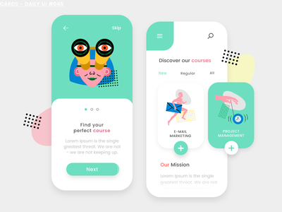 Cards icons8 app design app invision studio invisionapp invision colorful dailyui challenge dailyui 045 courses app courses dailyui daily ui cards studio