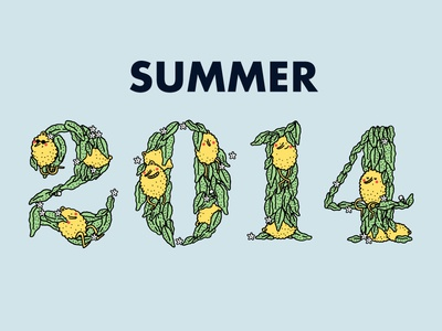 Summer and Lemon Typography