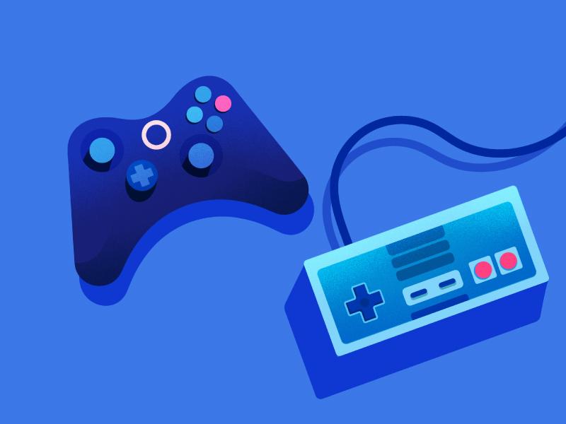 Google Calendar | Video Games geek nerd controller video games game illustration google calendar