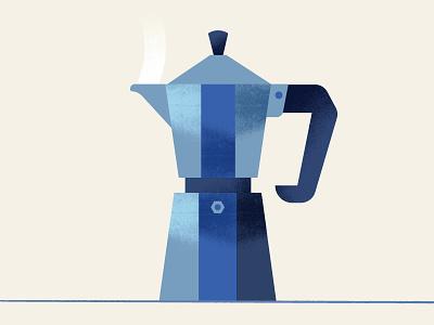 Coffee   Moka Pot moka coffee cafe illustration