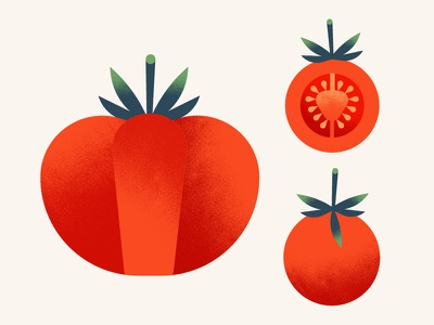 The Greenery | Tomatoes texture vegetables food red illustration tomatoes