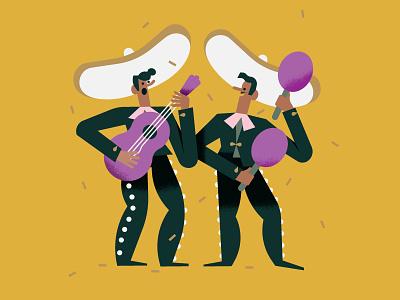 Maya Stepien x Lagom | Birthday Fiesta stationery print gold foil fiesta mariachi band birthday card illustration