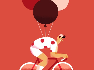 Maya Stepien x Lagom | Tour de France celebration texture gold foil card birthday print bike illustration