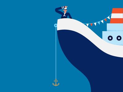 Maya Stepien x Lagom | Sorry You're Leaving celebration texture gold foil card sorry print sailor ship boat illustration