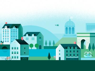 Google Pay | European Cityscape | Day app architecture google pay europe city google illustration