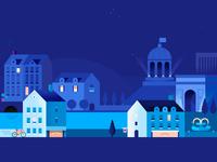 Google Pay   European Cityscape   Night