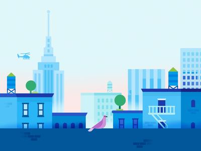 Google Pay | BigCityscape | Day architecture buildings city app google pay google illustration
