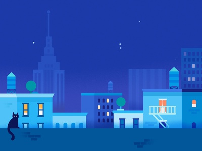 Google Pay | BigCityscape | Night architecture buildings cityscape city google pay app google illustration