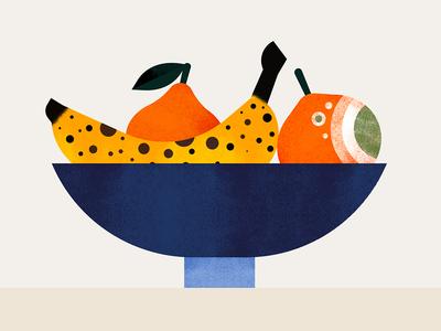 Winter Salad banana fruit food texture illustration