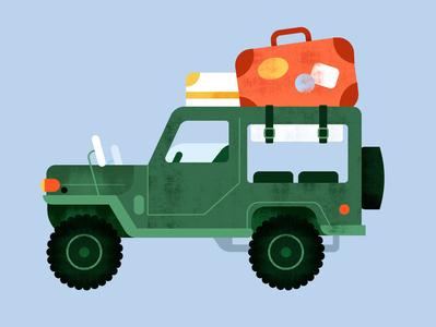The Roadtrip roadtrip travel car texture illustration