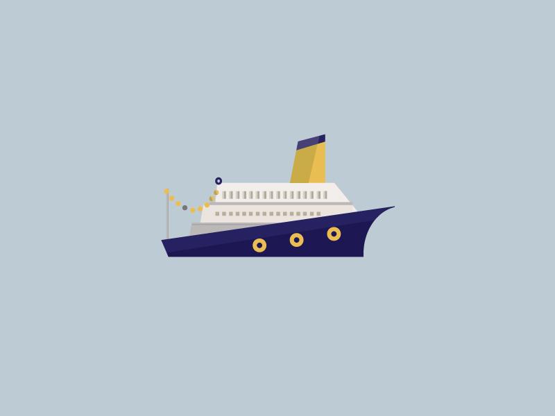 another ship ship sea illustration geometric minimal