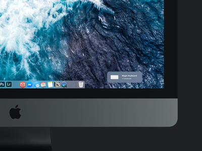 Mac OS Concept - Wireless Device Connect onboarding imac apple os x os concept redesign animation smarthome bluetooth trackpad keyboard pairing connect device internet of things interaction ux concept concept operating system os