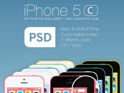 Apple iPhone 5C PSD