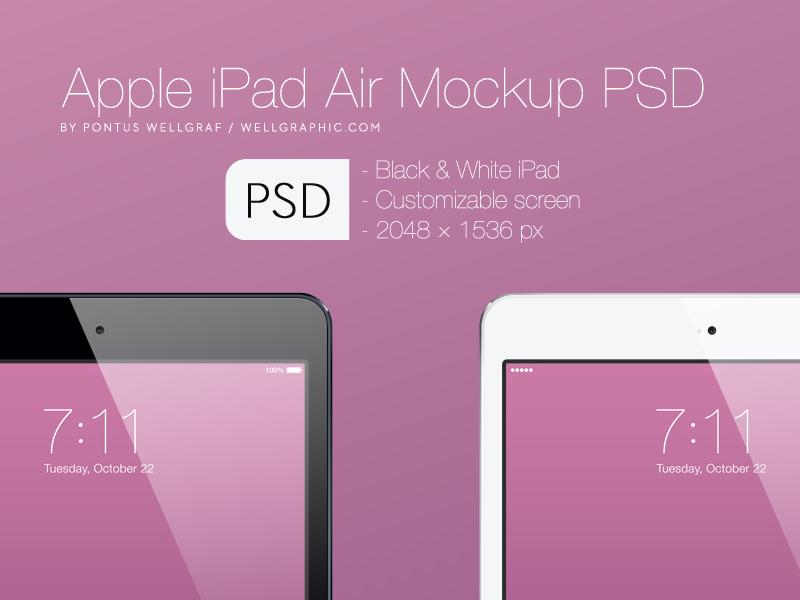 Apple iPad Air Mockup PSD apple ipad air apple ipad air device resource psd ui gui free download exclusive