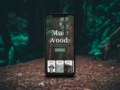 Exploring The Forest + After Effects Tutorial cinema 4d gyroscope discover explore forest card after effects photography parallax tutorial landing menu device 3d nature navigation browse interaction animation ui