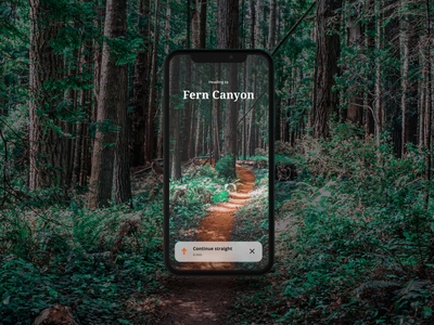 Navigate Trails with Augmented Reality + Process Video navigation augmented cinema 4d after effects tutorial mobile explore browsing virtual reality mixed reality interaction nature redwood 3d device concept ar augmented reality forest ui
