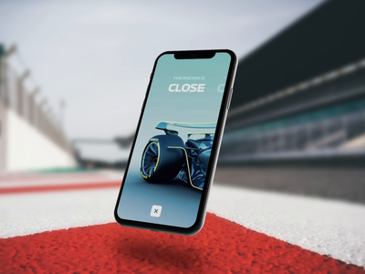 The Formula 1 Future - Onboarding + Tutorial giveaway resource prototype concept interaction animation after effects cinema4d 3dphone mobile userinterface userexperience ux ui 3d onboarding motorsport racing formula 1 formula1
