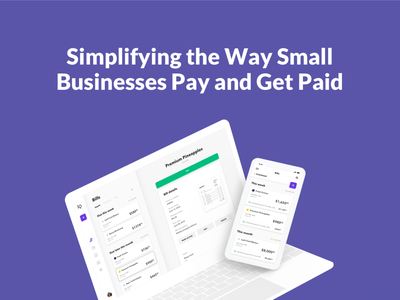 Melio Payments - Creating Bills web app credit card money camera app ui animation design system startup after effects interaction 3d invoice accounting bill bank finance fintech scan augmented reality camera payment