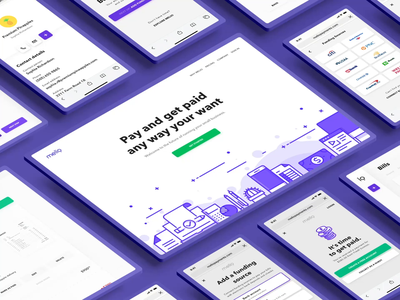 Melio Payments - Experience Collection ui animation user experience experience branding startup economy animation webdesign website landing illustration landing page responsive design system design design system fintech payment collection device ui