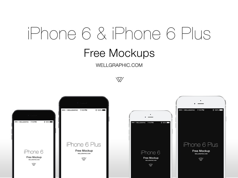 Apple iPhone 6 and iPhone 6 Plus Mockup PSD apple iphone iphone 6 iphone 6 plus resource download free mockup phone exclusive new