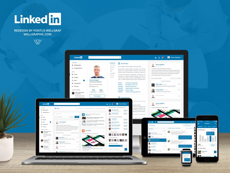 website designs linkedin
