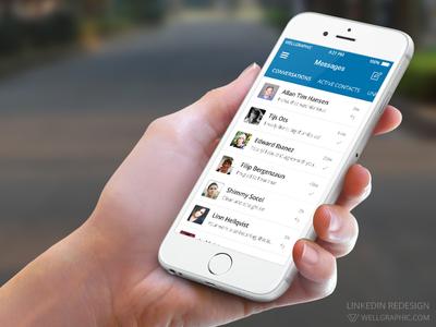 LinkedIn Redesign - Mobile Communication by Pontus Wellgraf - Dribbble