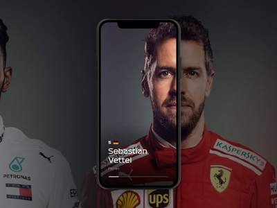 Formula 1 - Drivers Browsing car profile card profile page profile design user profile user motion iphonex fullscreen browsing motorsport formula1 profile interaction gif interface user interface ux animation ui
