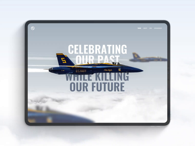 BLUE ANGELS EMISSIONS usa fleet week fleet 3d clouds climate environment blue angels military navy jet plane travel flight airplane concept user interface interface animation ux ui