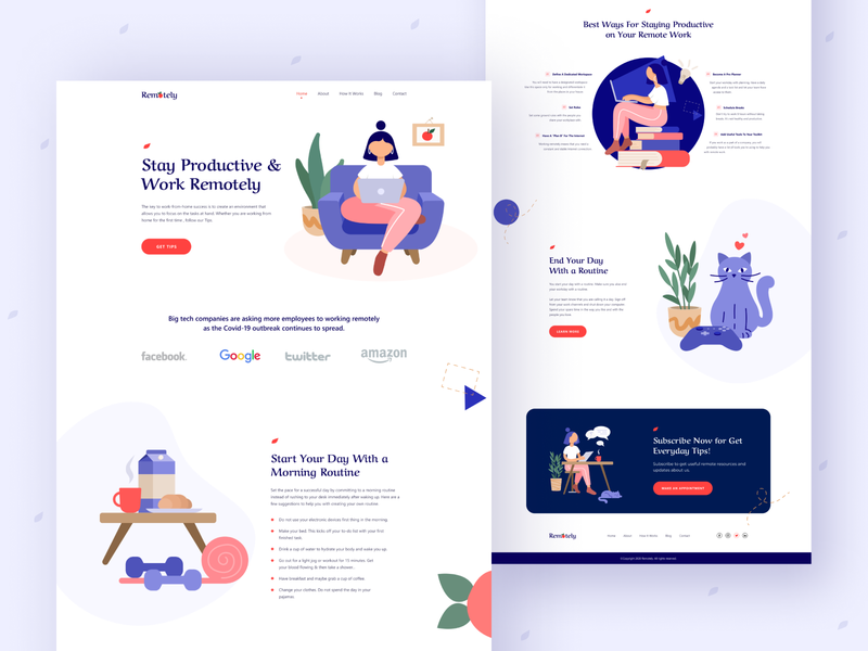 Remotely - Remote Work Landing Page