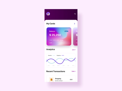 Micro-Interaction Personal Financial App TRON popular dribbble best shot trendy microinteraction animation app vector clean flat ux design ui uidesign typography creative minimal