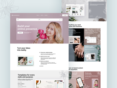 SquareSpace Flower Theme website design 2020 trendy dribbble best shot clean flat branding ux ui landing page uidesign typography web creative minimal