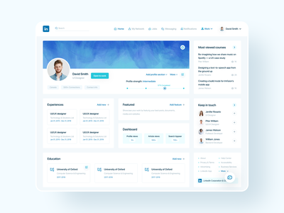 Linkedin Redesign trendy redesign dribbble best shot icon vector clean flat branding ux design ui uidesign typography creative minimal