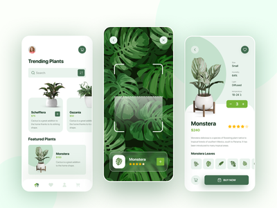 Plant Store App ecommerce business ecommerce shop ecommerce app garden plant ecommerce design ecommerce shop flowers store vector clean flat branding ux design ui uidesign creative minimal