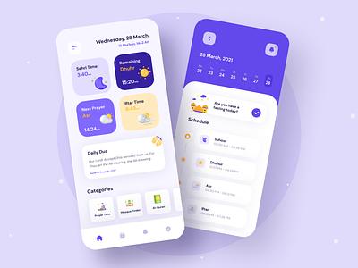 Ramadan App user interface user experience ramadan app mobileapp mobile islam muslim ios app ramadan app creative vector clean design flat ux uidesign ui minimal
