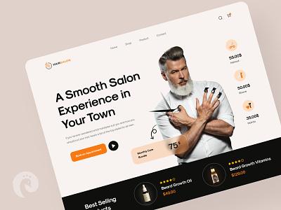 Barber Shop Hero Exploration figma company enterpreneur salon landing page haircut barber shop barbershop barbers barber clean design web uidesign ui creative minimal