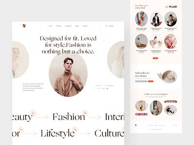Fashion Blog Landing Page web design website clothes fashion squarespace ecommerce minimalist blog landing blog design web typography ux uidesign ui creative minimal
