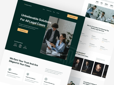 Kingslay Lawyer's Landing UI firm legal adviser justice lawyer agency consultancy legal attorney law landing page landing website web typography ux uidesign ui creative minimal