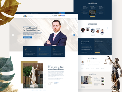 Lawyer Website Exploration ui trend 2019 webdesign legal adviser design clean uiux web landing page creative uidesign minimal lawyers law firm law  justice attorney  law attorneys