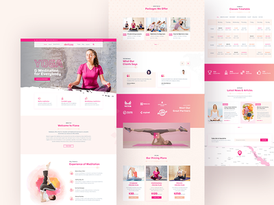 Yoga Template Exploration themeforest meditation workout healthy lifestyle health fitness trend 2019 wellness yoga studio yoga ui typography clean uiux web landing page creative uidesign minimal