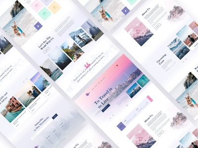 Travelo_Travel_Agency_Template tour travel startup typography logo web website ux ui photoshop minimal landing page icon template flat design creative branding agency 2019 trend