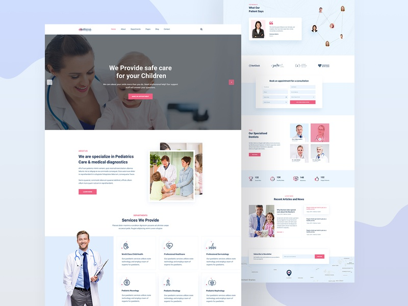 Fiana   Health and Medical HTML Template medical care clinic landingpage icon website flat photoshop healthy creative minimal trend 2019 clean uiux web uidesign design logo typography