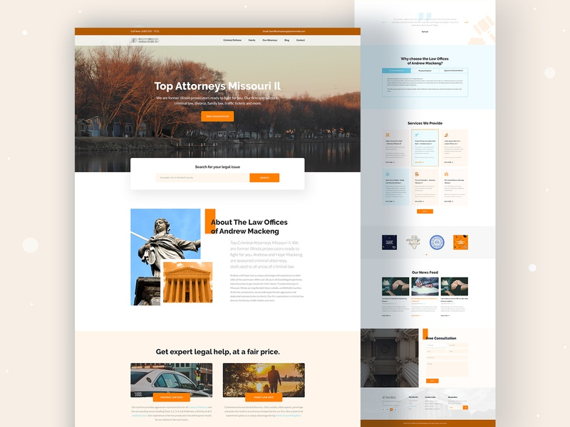 Law Firm Website Design ux legal adviser justice agency law firm attorney trend 2020 icon webdesign vector branding clean ui design typography landing page uidesign web creative minimal