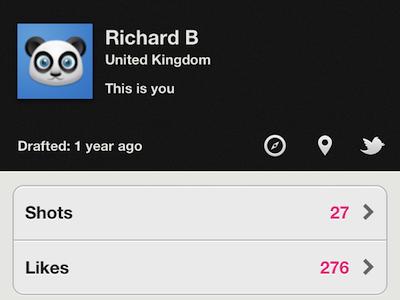 Backboard - Profile Page misecia ui dribbble app iphone backboard