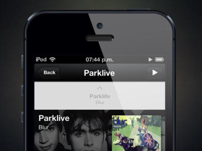 NowPlayer v2 Album music nowplayer ui app ios ux misecia iphone