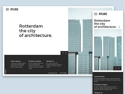 Rture - homepage web design ui design