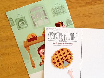 new promo postcards by christine nishiyama dribbble