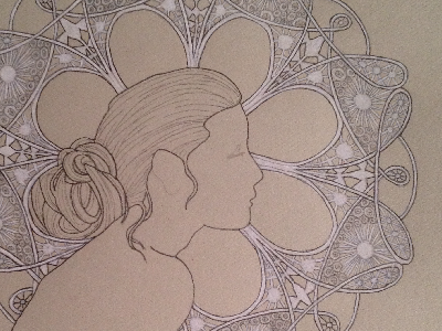 Lace woman sketch